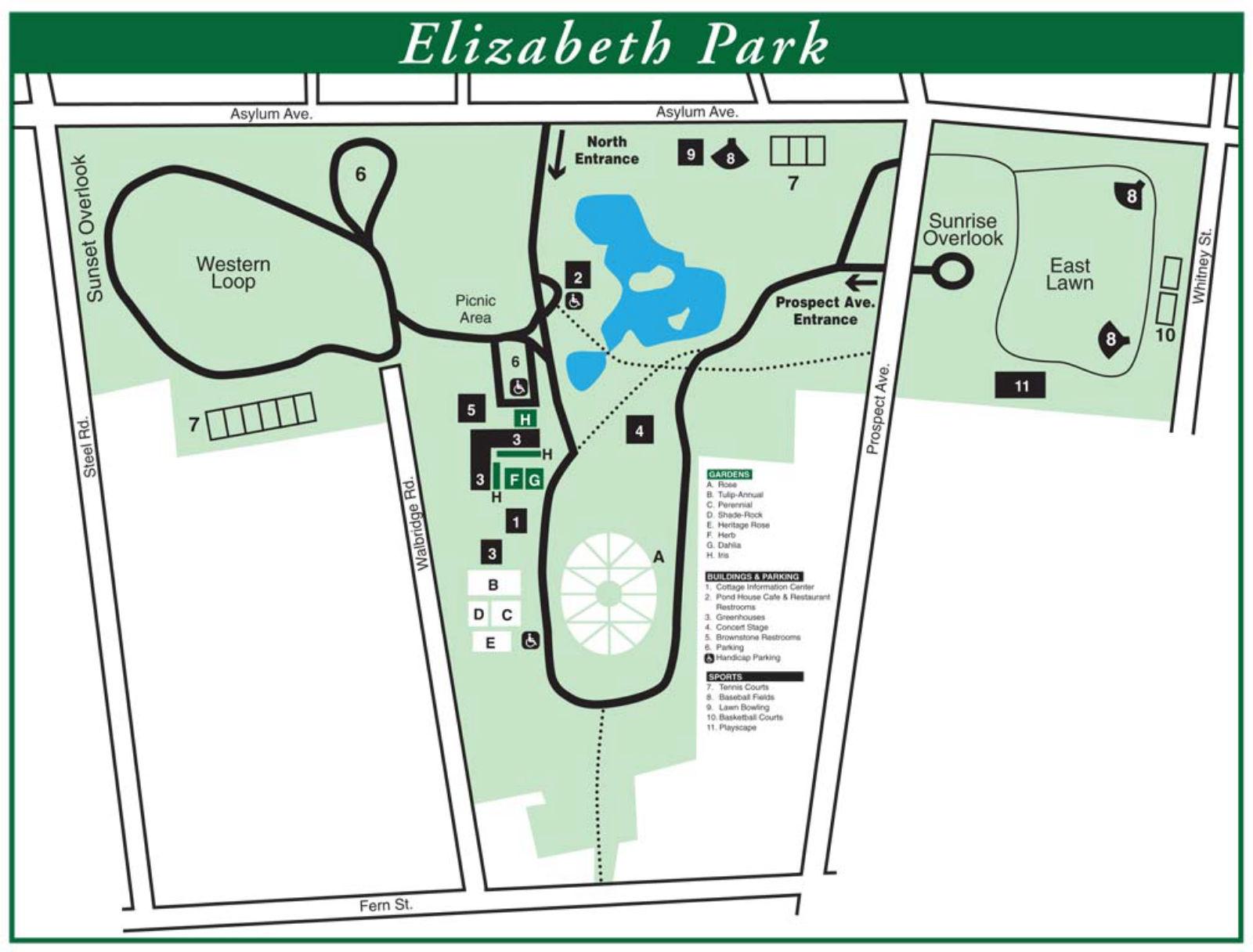 Directions and Parking - Elizabeth Park